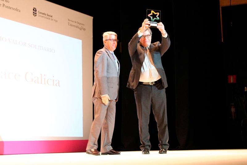 ASPACE-Galicia premio Valor Solidario da Universidade de Vigo
