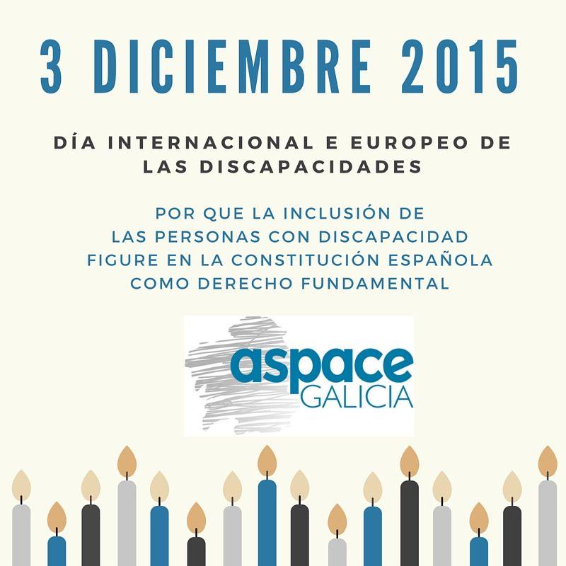 As entidades que forman ASPACE-Galicia celebran o Día Internacional da Discapacidade