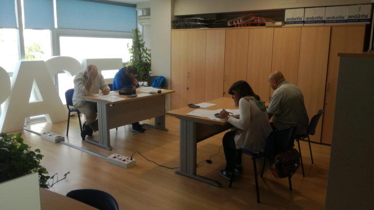 Cuatro personas realizaron en Pontevedra las pruebas de competencias clave para acceder a los certificados de profesionalidad