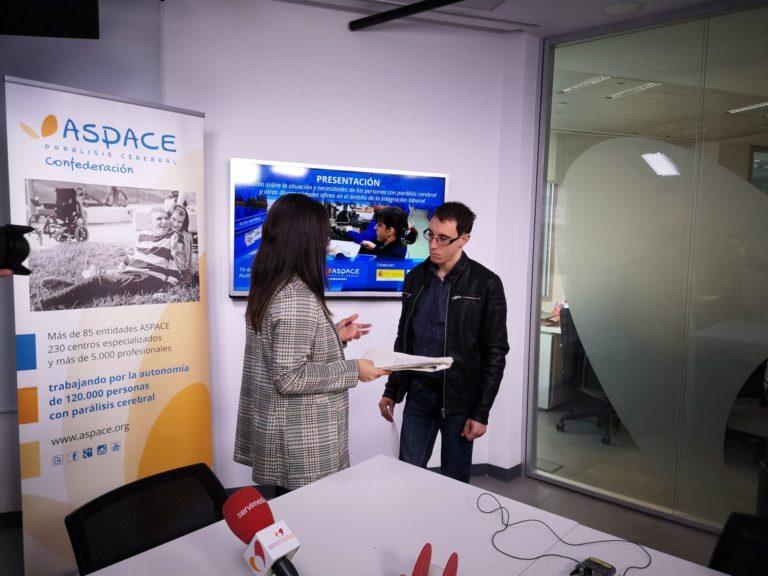 Nuestros compañeros Antonio Doallo y Aaron Ortiz participan en la presentación del nuevo Estudio de Empleo de Confederación ASPACE