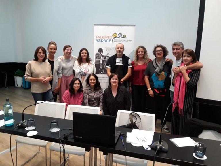 Representantes de los grupos de TALENTO ASPACE, coordinados por ASPACE GALICIA, presentan su trabajo en Madrid