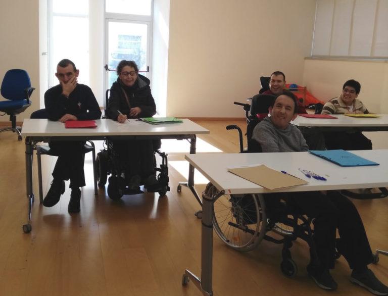 Se reanuda el curso de auxiliar de conserje en APAMP organizado por Federación ASPACE-Galicia