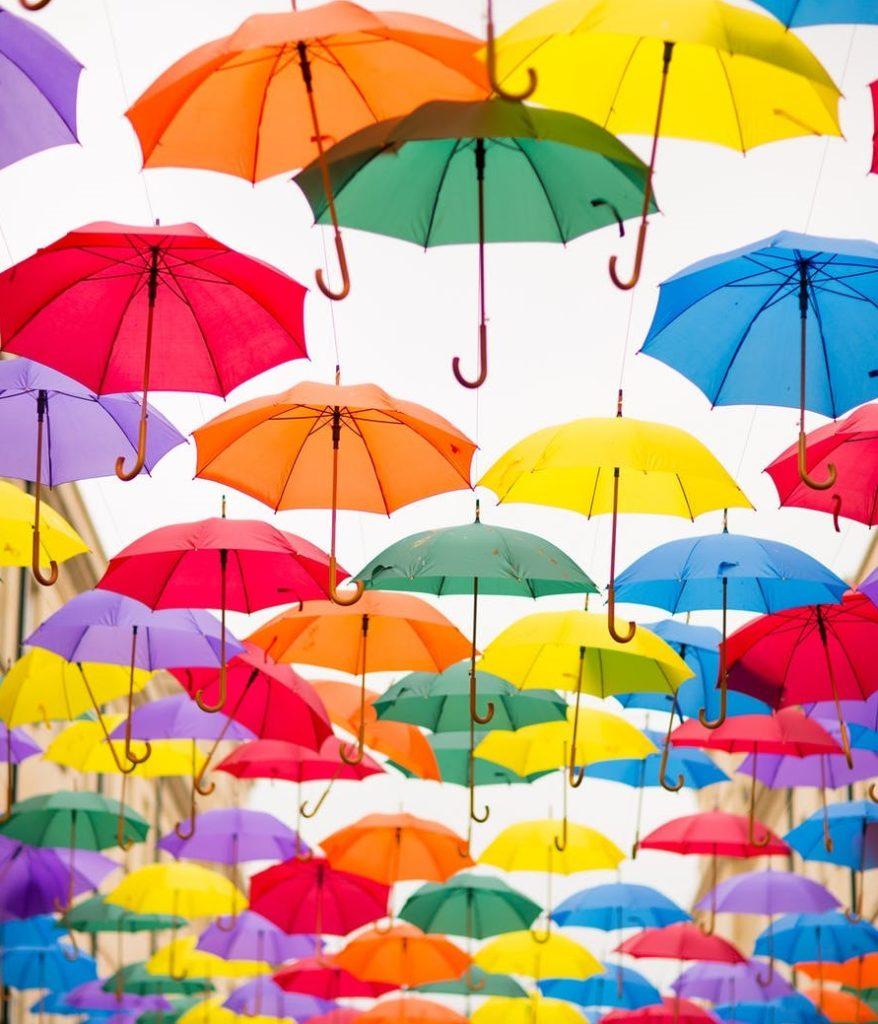 Paraguas por el Día Internacional de las Personas con Discapacidad