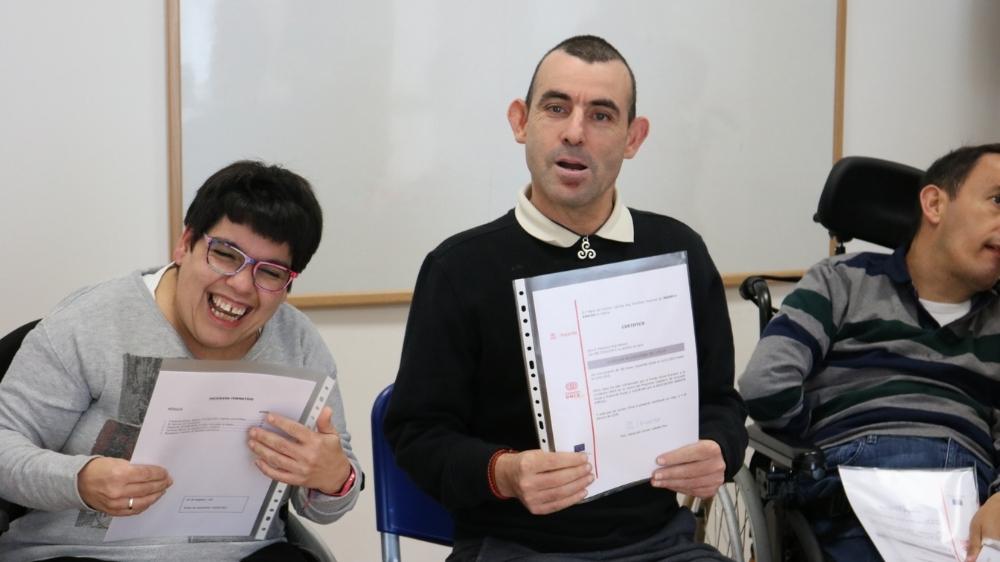 Broche de oro al curso de auxiliar de conserje de Federación ASPACE Galicia